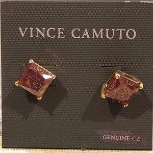 NWT Vince Camuto Princess Cut Crackle CA Studs